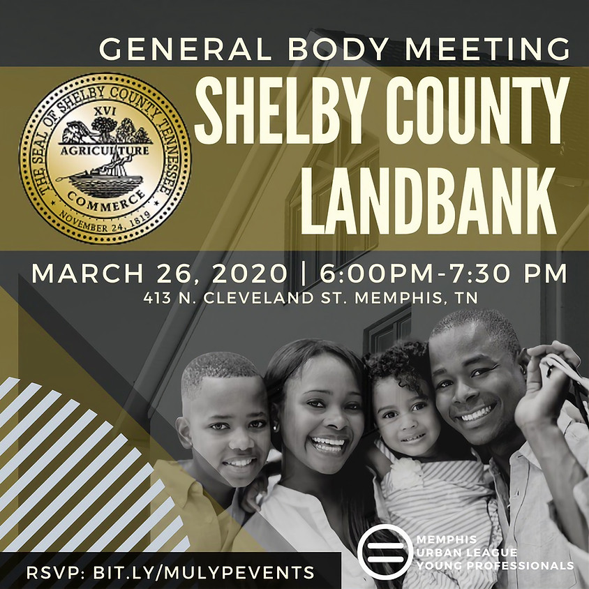 General Body Meeting: Shelby County Land Bank