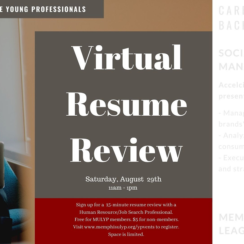 Virtual Resume Review presented by MULYP