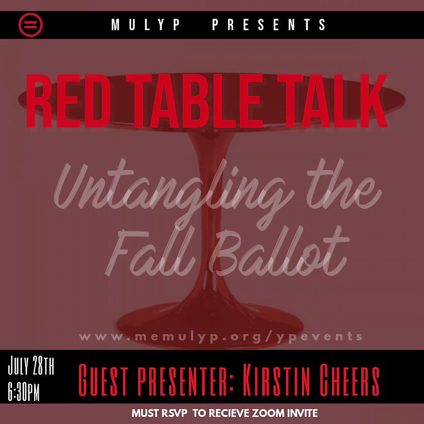 July General Body Meeting: Red Table Talk - Untangling the Fall Ballot