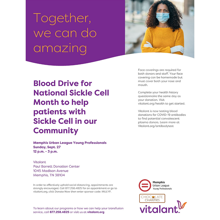 September Sickle Cell Month Blood Drive