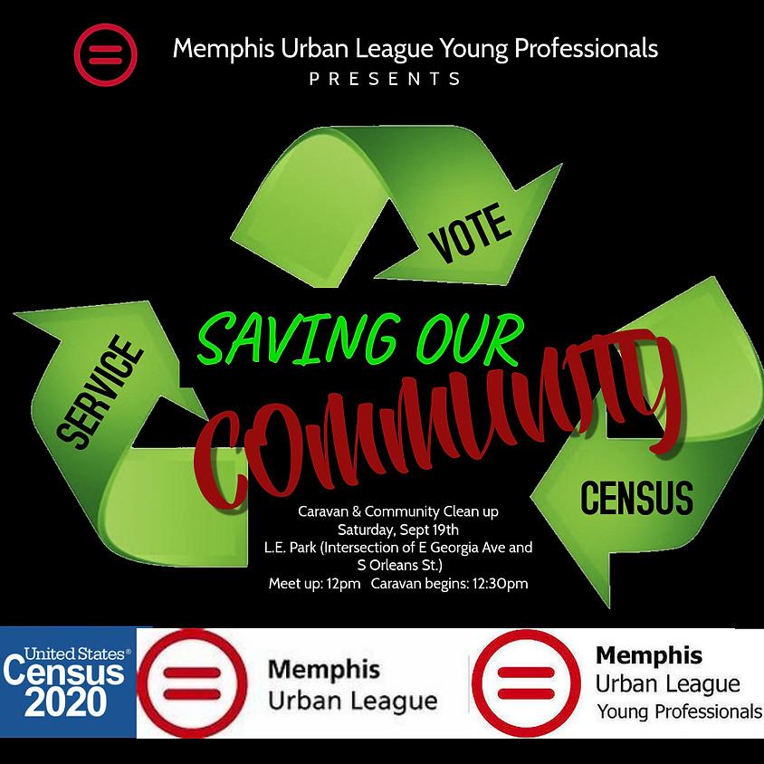 Voter/Census Caravan and Neighborhood Clean Up - South Memphis Community