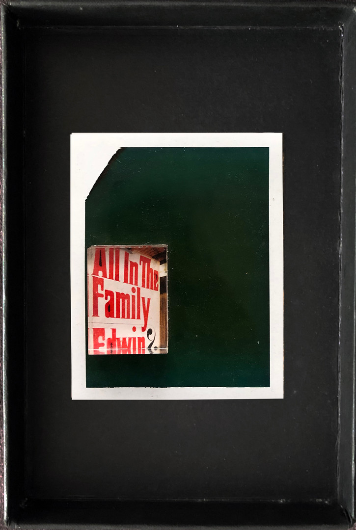 """Series X-Pola """"All in the family"""" 2019 8/10cm mounted Plexiglass on Polaroid Edition 1/1 NIS 1,000 per object"""