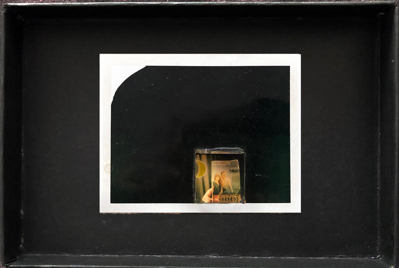 "Series X-Pola ""Couple"" 2019 8/10cm mounted Plexiglass on Polaroid Edition 1/1 NIS 1,000 per object"