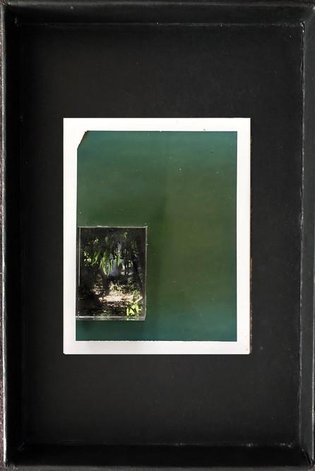 "Series X-Pola ""Hayarkon"" 2019 8/10cm mounted Plexiglass on Polaroid Edition 1/1 NIS 1,000 per object"