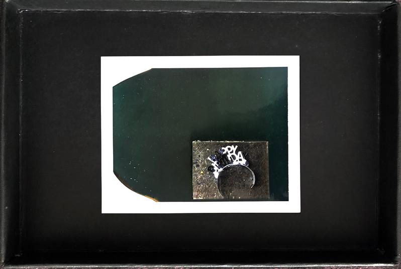 "Series X-Pola ""Happy birthday"" 2019 8/10cm mounted Plexiglass on Polaroid Edition 1/1 NIS 1,000 per object Sold out"