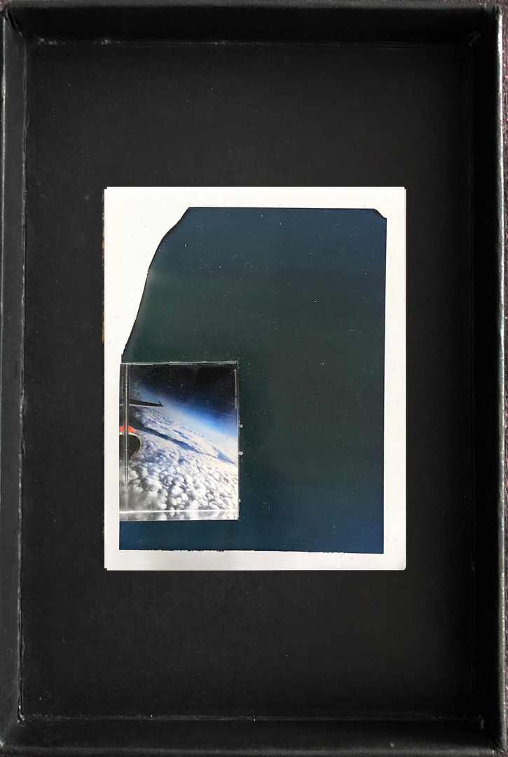 "Series X-Pola ""Clouds"" 2019 8/10cm mounted Plexiglass on Polaroid Edition 1/1 NIS 1,000 per object"