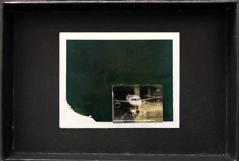 "Series X-Pola ""Airplane"" 2019 8/10cm mounted Plexiglass on Polaroid Edition 1/1 NIS 1,000 per object"