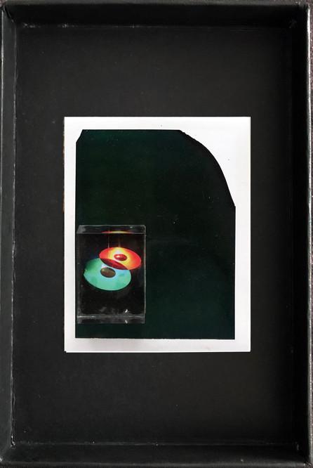 "Series X-Pola ""Vinyl"" 2019 8/10cm mounted Plexiglass on Polaroid Edition 1/1 NIS 1,000 per object"