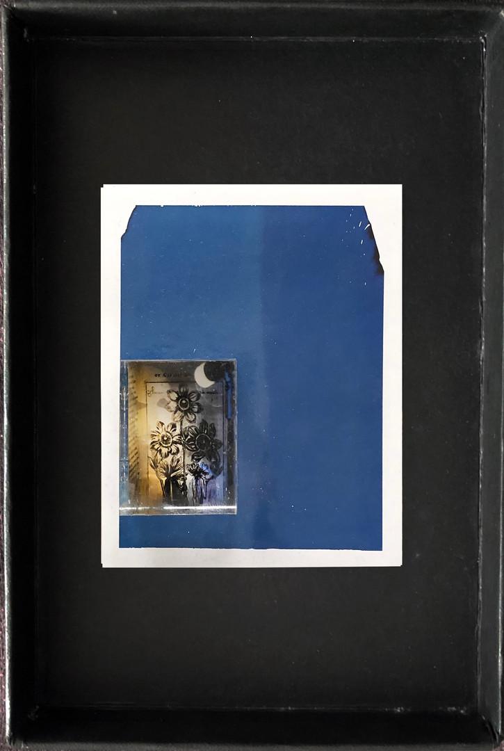"Series X-Pola ""Night reading"" 2019 8/10cm mounted Plexiglass on Polaroid Edition 1/1 NIS 1,000 per object"