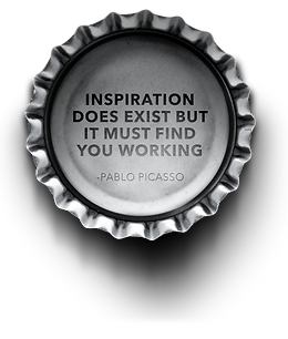 inspiration does exist but it must find