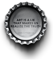 art is a lie that makes us realize the t