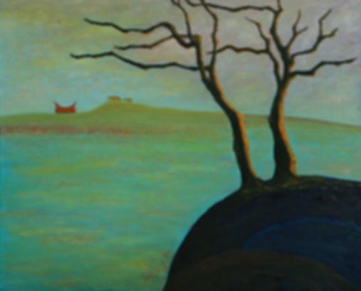 楊風,油畫,遠山