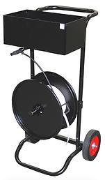 Cordstrap cart, composite strap dispenser