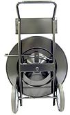 poly strap cart, dispenser, plastic strap cart