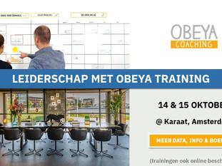 Leiderschap met Obeya training 2020