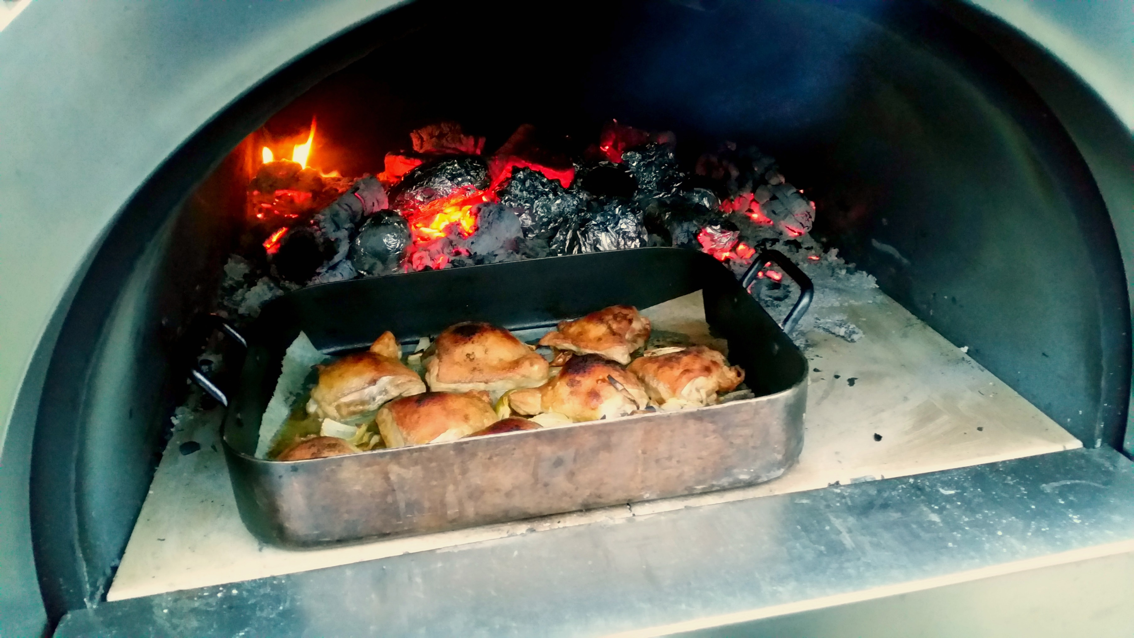 Wood fired chicken