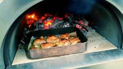 Wood fired chicken