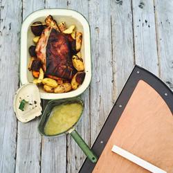 Wood fired Pork Roast & Vegies