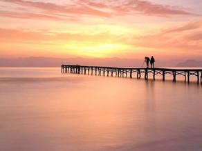 Sunset 🌞⛵🐠
