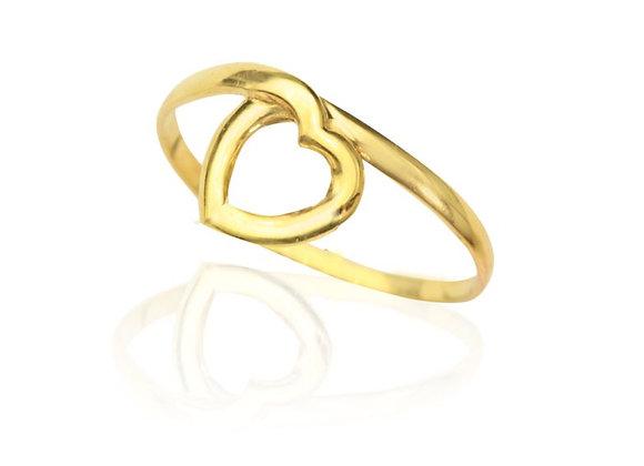 Anel em Ouro Amarelo -  Coleção Love