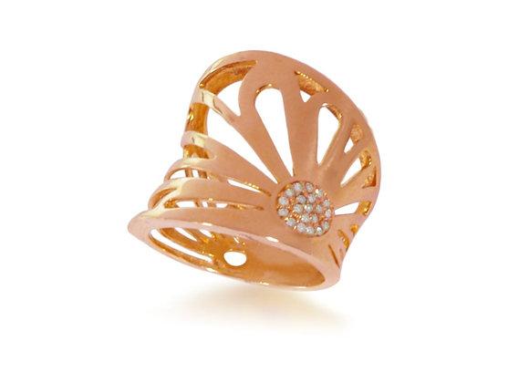 Anel em Ouro Rose Brilhante - Coleção Pétalas