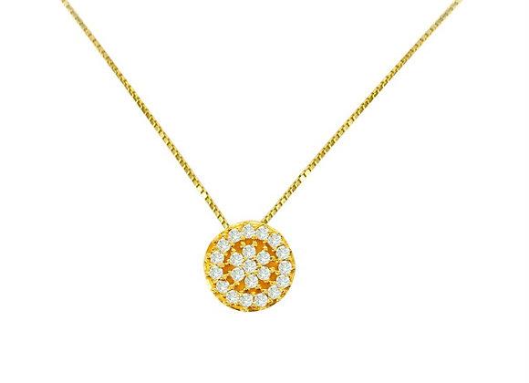 Colar Ouro Amarelo e Brilhantes - Coleção Sofia