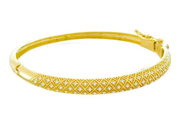 Bracelete c/ Brilhantes Ouro Amarelo/Branco ou Rose e Brilhantes - Coleção Ísis