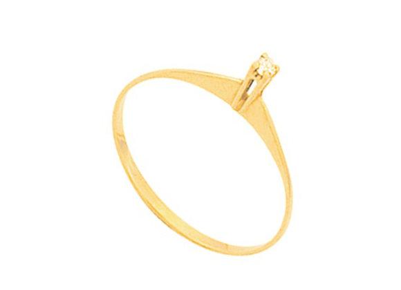 Solitário de Noivado Ouro Amarelo 18k  e Brilhante