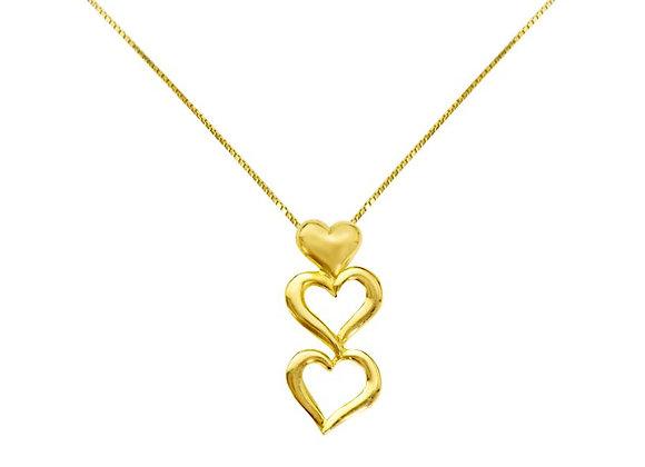 Colar em Ouro Amarelo - Coleção Love