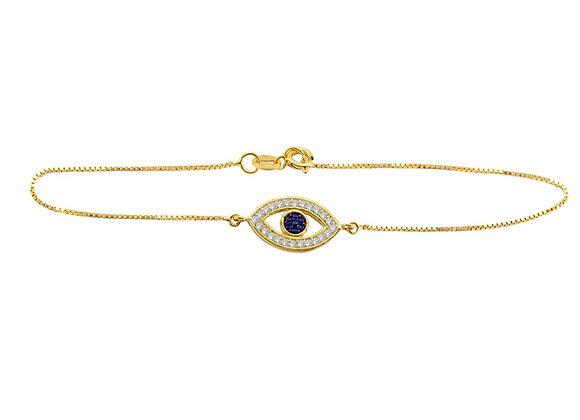 Pulseira Olho Grego em ouro amarelo