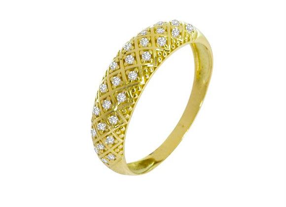 Anel em Ouro Amarelo e Brilhantes - Coleção Ísis