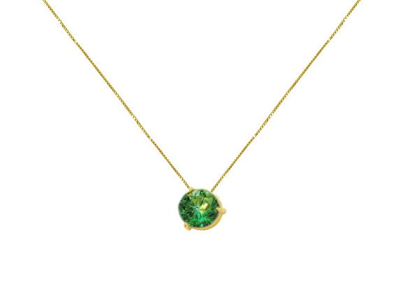 Colar Ouro Amarelo Esmeralda - Coleção Energia
