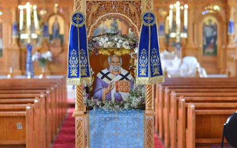 St Nicholas Archbishop of Myra Icon decorations