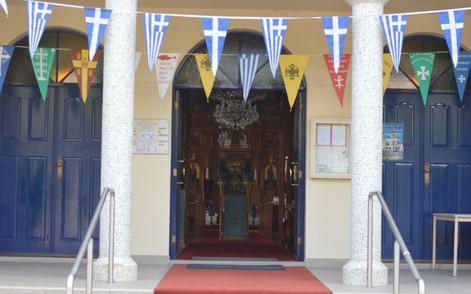 St Nicholas Greek Orthodox Church entry door