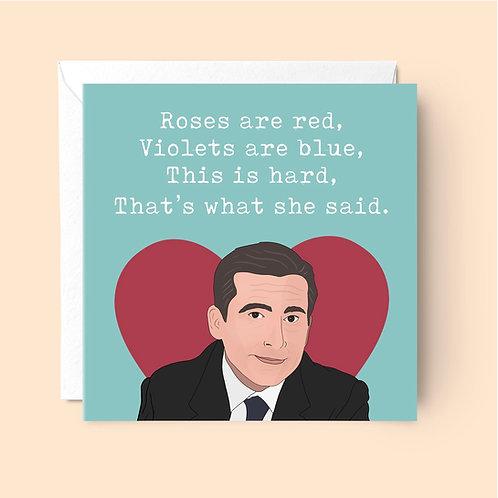 Michael Scott Valentine's Card
