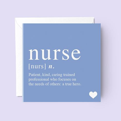 Nurse Definition Card