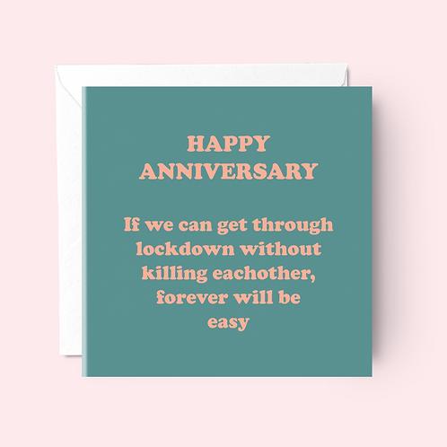 Lockdown Anniversary Card