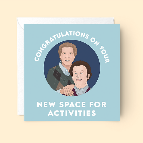 Step Brothers New Home Card