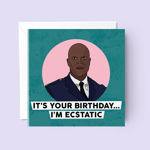 Captain Holt Brooklyn 99 Birthday Card