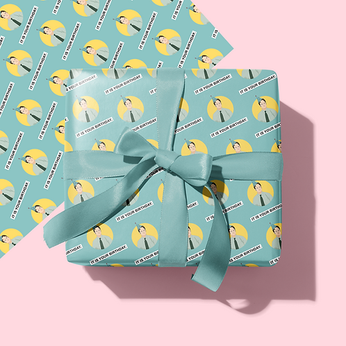 Dwight Wrapping Paper & Gift Tag