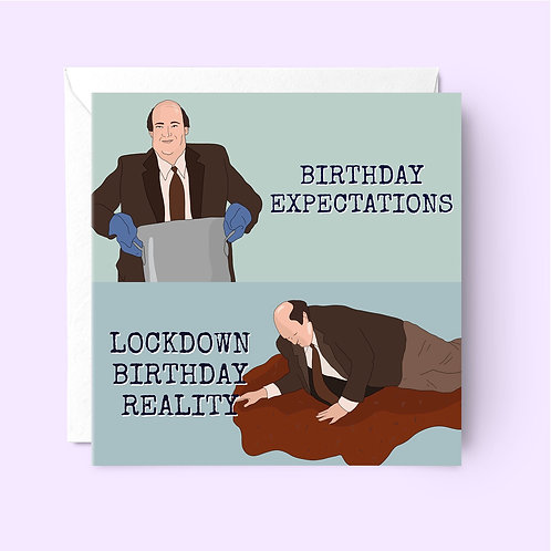 Kevin The Office Lockdown Birthday Card