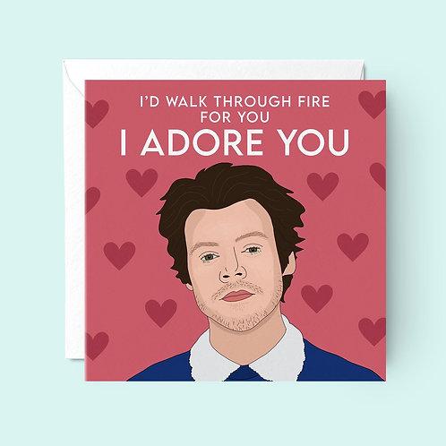 Harry Styles Valentines Card