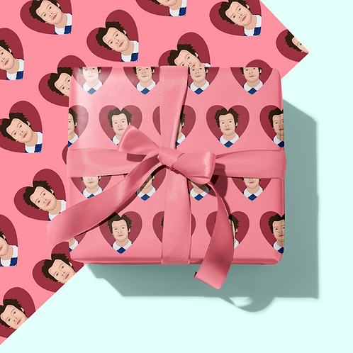 Harry Styles Wrapping Paper & Tag