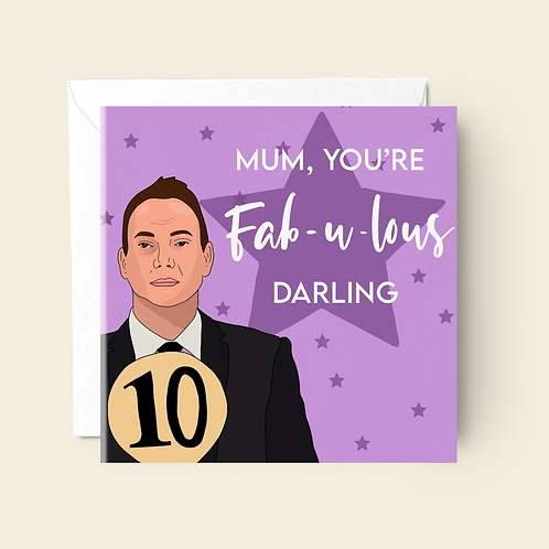 Strictly Come Dancing Mother's Day Card