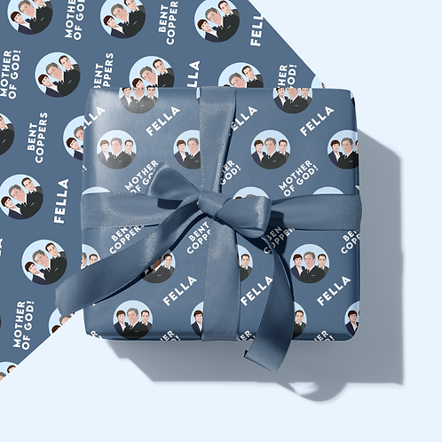 Line of Duty Wrapping Paper & Tag Set