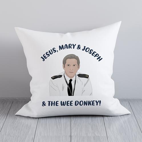 Jesus Mary & Joseph & The Wee Donkey Cushion