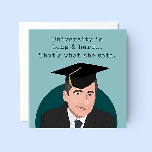Michael Scott That's What She Said Graduation Card