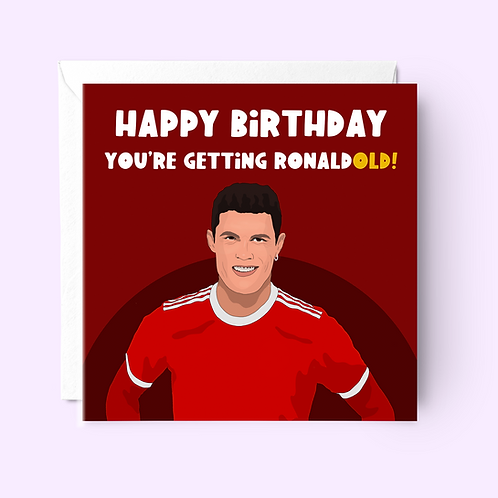 Christiano Ronaldo Birthday Card