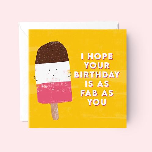 You're Fab Birthday Card