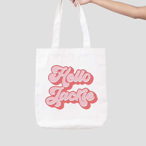 Hello Jackie Tote Bag